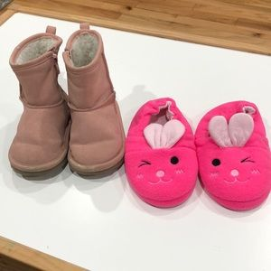 """Ugg"" style boots and bunny slippers"